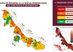 Cuatro municipios veracruzanos vuelven a semáforo rojo